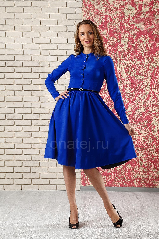 240561dcbc78839 Платье Зоя-2 (ярко-синий) - Осень-зима - Каталог